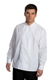 Long Sleeve Double Breasted Server Shirt White Thumbnail