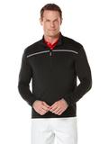 Callaway Men's Long Sleeve 1/4 Zip Mock Pullover Black Thumbnail