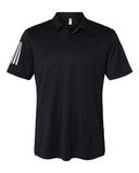 Floating 3-Stripes Sport Shirt Black with White Thumbnail