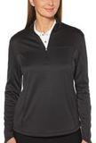 Women's Ottoman 1/4-Zip Pullover Black Thumbnail
