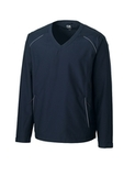 Men's Cutter & Buck Big & Tall WeatherTec Beacon V-Neck Jacket Navy Blue Thumbnail