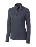 Women's Cutter & Buck Long Sleeve Belfair Half-Zip Mock Turtleneck Onyx Thumbnail