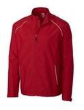 Men's Cutter & Buck Big & Tall WeatherTec Beacon Full-Zip Jacket Cardinal Red Thumbnail