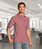 Cutter & Buck Men's Division Striped Polo Cardinal Red Thumbnail