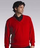 Men's 100 Acrylic Interlock V-neck Sweater Thumbnail