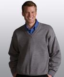 Men's 100 Acrylic V-neck Sweater White Thumbnail