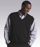 Men's 100 Cotton Cashmere V-neck Sweater Vest Navy Thumbnail