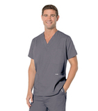 Men's 5-Pocket Scrub Top Steel Grey Thumbnail