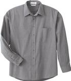 Men's Dress Shirt Black Silk Thumbnail