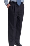 Men's Easy Fit Pleated Pant Navy Thumbnail