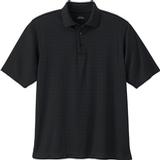 Men's Eperformance Jacquard Windowpane Polo Black Thumbnail