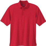 Men's Eperformance Jacquard Windowpane Polo Molten Red Thumbnail