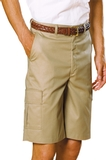 Men's Flat Front Cargo Short Tan Thumbnail