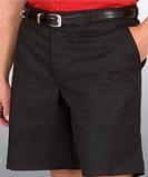 Men's Flat Front Chino Short Black Thumbnail