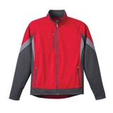 Men's Jozani Hybrid Softshell Vin Red with Grey Storm and Steel Grey Thumbnail