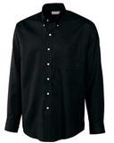 Cutter & Buck Men's Big & Tall Long Sleeve Epic Easy Care Nailshead Dress Shirt Black Thumbnail