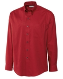 Cutter & Buck Men's Big & Tall Long Sleeve Epic Easy Care Nailshead Dress Shirt Cardinal Red Thumbnail