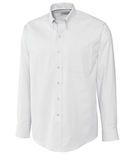 Cutter & Buck Men's Big & Tall Long Sleeve Epic Easy Care Nailshead Dress Shirt White Thumbnail