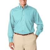 Men's Long Sleeve Easy Care Poplin Aqua Thumbnail