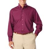 Men's Long Sleeve Easy Care Poplin Berry Thumbnail