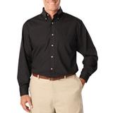 Men's Long Sleeve Easy Care Poplin Black Thumbnail