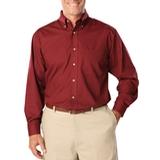 Men's Long Sleeve Easy Care Poplin Burgundy Thumbnail