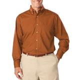 Men's Long Sleeve Easy Care Poplin Burnt Orange Thumbnail