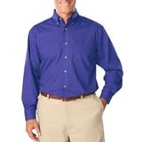 Men's Long Sleeve Easy Care Poplin French Blue Thumbnail