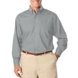 Men's Long Sleeve Easy Care Poplin Grey Thumbnail
