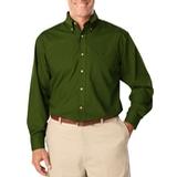 Men's Long Sleeve Easy Care Poplin Hunter Thumbnail