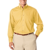 Men's Long Sleeve Easy Care Poplin Maize Thumbnail
