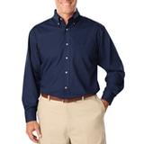 Men's Long Sleeve Easy Care Poplin Navy Thumbnail