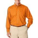 Men's Long Sleeve Easy Care Poplin Orange Thumbnail
