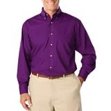 Men's Long Sleeve Easy Care Poplin Purple Thumbnail