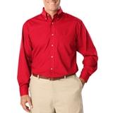 Men's Long Sleeve Easy Care Poplin Red Thumbnail