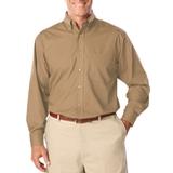 Men's Long Sleeve Easy Care Poplin Tan Thumbnail
