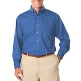 Men's Long Sleeve Easy Care Poplin Turquoise Thumbnail