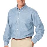 Men's Long Sleeve Premium Denim Faded Blue Denim Thumbnail