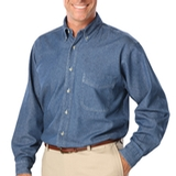 Men's Long Sleeve Premium Denim Vintage Blue Denim Thumbnail