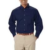 Men's Long Sleeve Teflon Treated Twill Navy Thumbnail