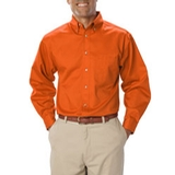 Men's Long Sleeve Teflon Treated Twill Orange Thumbnail