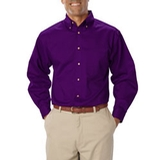 Men's Long Sleeve Teflon Treated Twill Purple Thumbnail