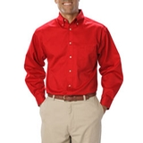 Men's Long Sleeve Teflon Treated Twill Red Thumbnail