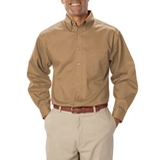 Men's Long Sleeve Teflon Treated Twill Tan Thumbnail