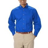 Men's Long Sleeve Teflon Treated Twill Turquoise Thumbnail