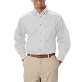 Men's Long Sleeve Teflon Treated Twill White Thumbnail