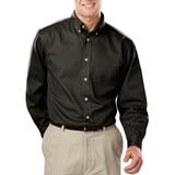 Men's 100% Cotton L/S Twill Shirt Black Thumbnail