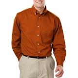 Men's 100% Cotton L/S Twill Shirt Burnt Orange Thumbnail