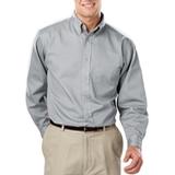 Men's 100% Cotton L/S Twill Shirt Grey Thumbnail