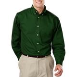 Men's 100% Cotton L/S Twill Shirt Hunter Thumbnail
